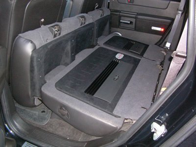 car amplifier hidden installation