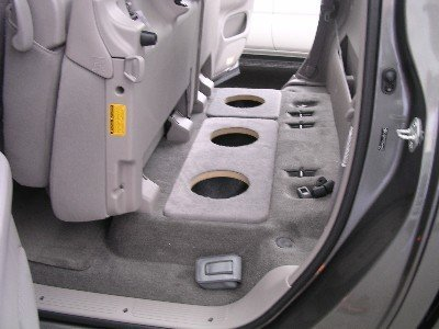 custom truck subwoofer placement