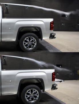 tailgate down improves aerodynamics